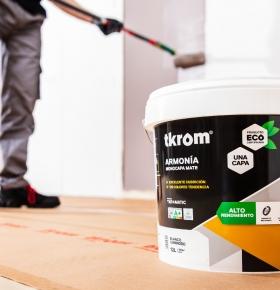 Reduce los tiempos de pintado gracias a su extraordinario cubrición a una mano.